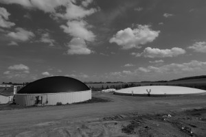 Laforge 2 biogas digesters black and white