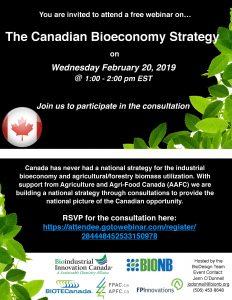 Canadian Bioeconomy Strategy Consultation (Webinar)