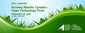 APEC Webinar - Growing Atlantic Canada's Clean Tech Firms @ Online Webinar